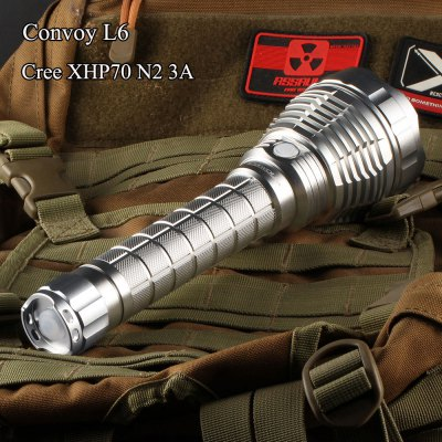 Convoy L6 Silver LED Flashlight