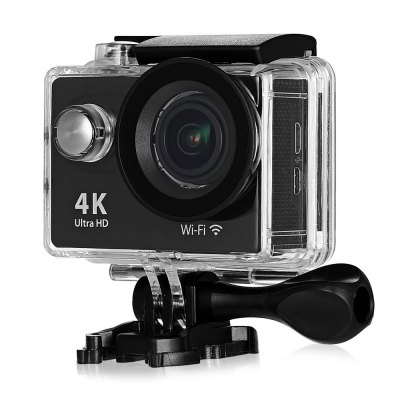 Gearbest H9 Ultra HD 4K Action Camera - US PLUG BLACK