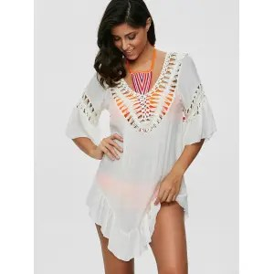 Risultati immagini per https://www.rosegal.com/cover-ups-kaftans/colored-pompon-see-through-crochet-tunic-995368.html