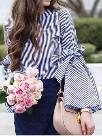 blouse rayé rosegal