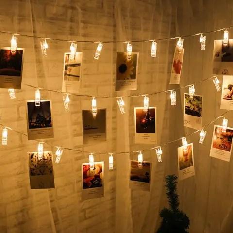 Sale LED 20pc-clip Light String Warm White Lights Decorative Lights
