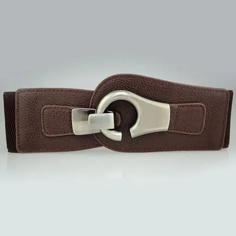 Chic Pin Buckle Design Openwork PU Elastic Belt For Women