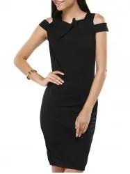 Short Sleeve Cold Shoulder Bodycon Dress
