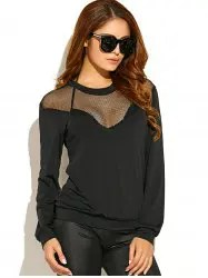 Mesh Insert See-Through T-Shirt