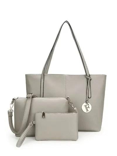 3 Pieces PU Leather Shoulder Bag Set