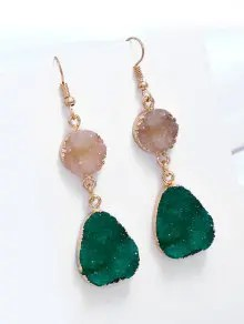 Unique Natural Stone Teardrop Drop Earrings