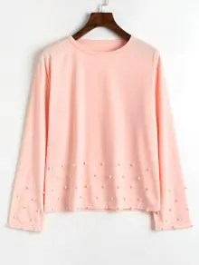 Long Sleeve Pearly T Shirt