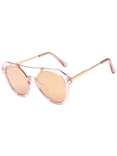 Travel Geometric Sunglasses - Light Pink