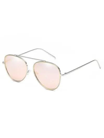 Crossbar Metal Frame Pilot Sunglasses