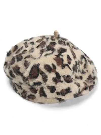 Leopard Pattern Decorative Beret