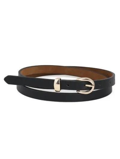 Simple Buckle Decoration Waist Belt