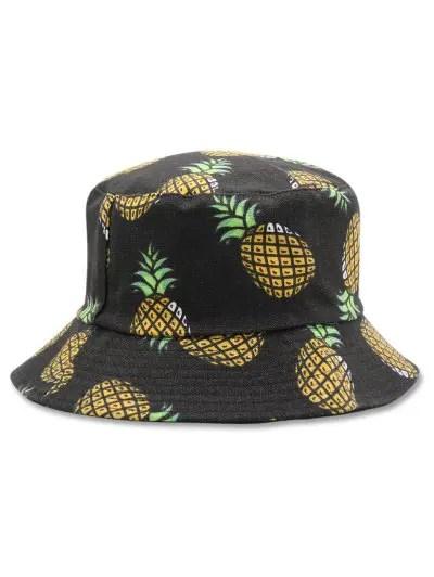 Casual Pineapple Design Bucket Hat