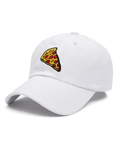 Pizza Pattern Embroidery Outdoor Sport Baseball Cap