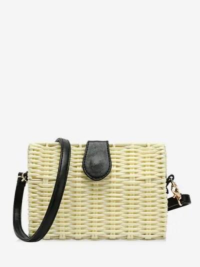 Beach Rattan Weaving Crossbody Bag