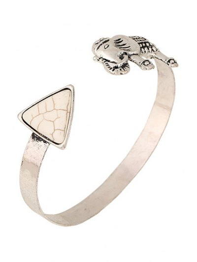 Turquoise Elephant Cuff Bracelet