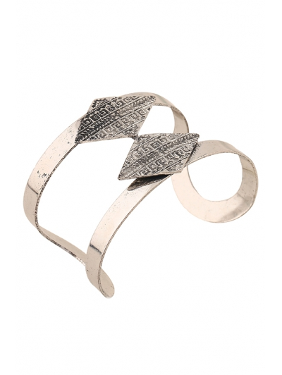 Rhombus Carving Cuff Bracelet