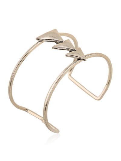 Triangle Two Layered Cuff Bracelet