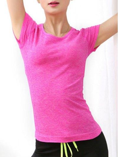 Jewel Neck Short Sleeve Sport T Shirt
