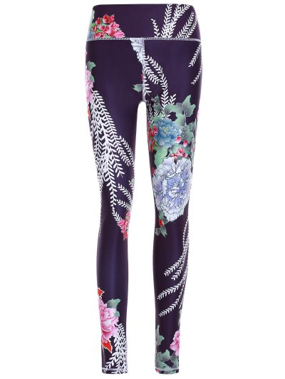 Floral Print Slimming Pants For Women