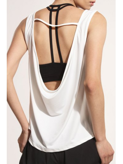 U Neck Backless Tank Top For Women