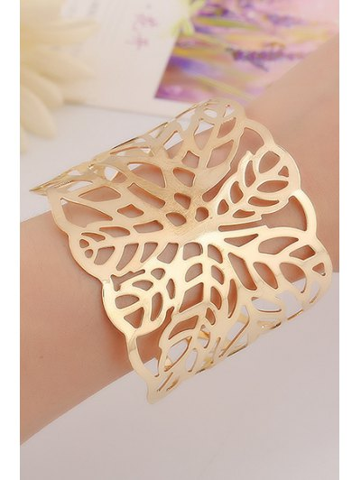 Hollow Out Leaf Cuff Bracelets For Women
