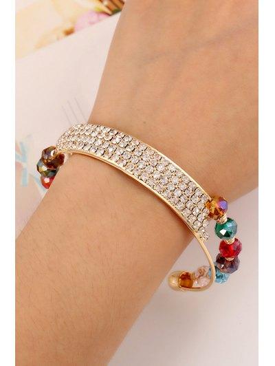 Rhinestone Faux Crystal Cuff Bracelets For Women