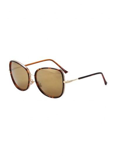 Alloy Match Big Frame Flecky Sunglasses For Women