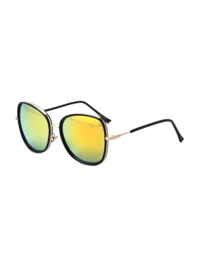 Alloy Match Black Big Frame Sunglasses For Women