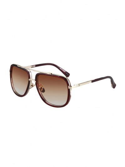 Alloy Match Tea Colored Frame Sunglasses For Women