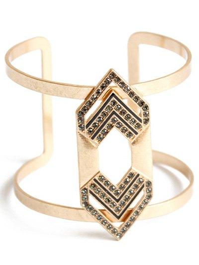 Rhinestone Arrow Cuff Bracelet For Women