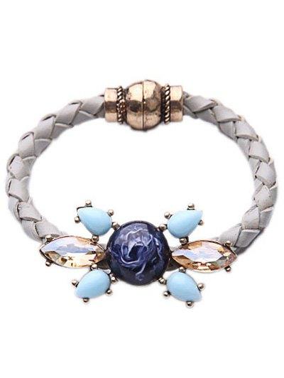 Faux Gem Crystal Knitted Bracelet