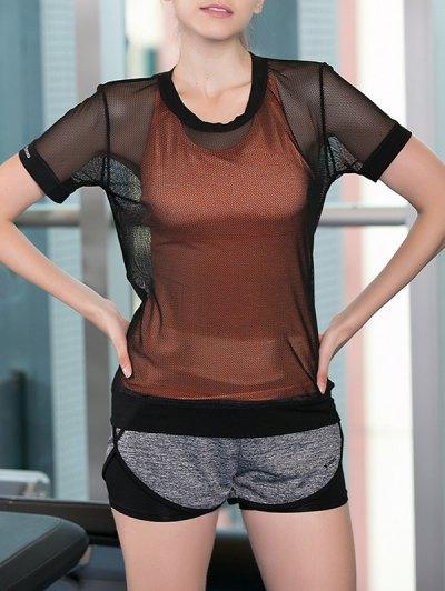 Criss Cross Tank Top Shorts See Through Blouse Women s Three Piece Suit