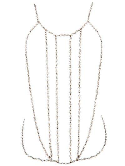 Fake Pearl Bikini Body Chain
