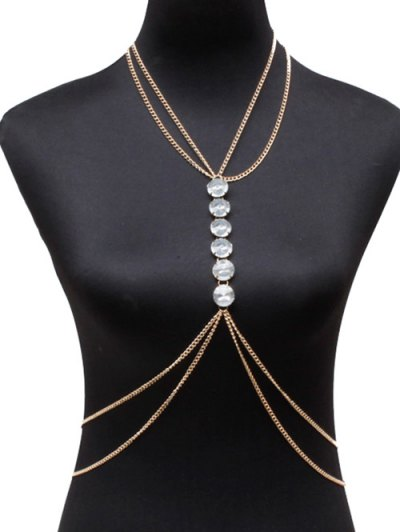 Vintage Faux Crystal Body Chain