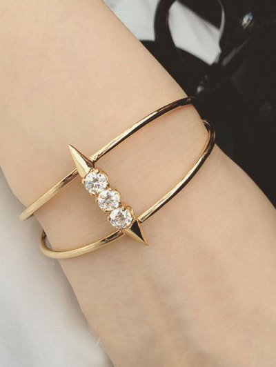 Rhinestone Rivet Cuff Bracelet