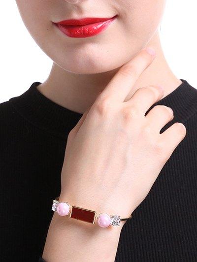 Faux Pearl Rectangle Bracelet