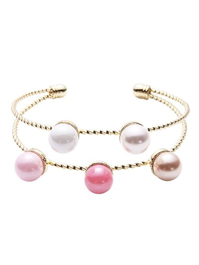 Graceful Layered Artificial Pearl Bracelet