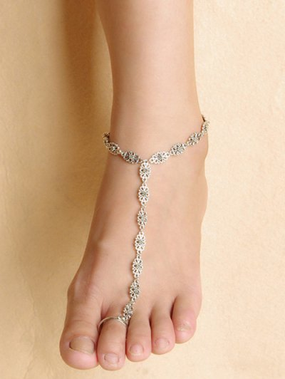 Graceful Floral Anklet