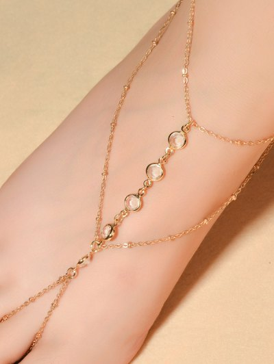 Graceful Faux Crystal Beads Anklet