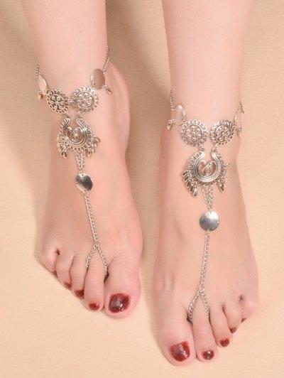 Vintage Water Drop Sequins Anklet