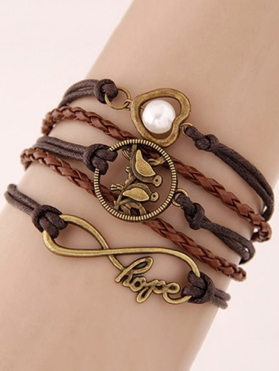 Birdie Infinity Braided Bracelet