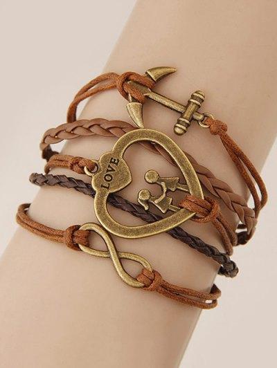 Heart Anchor Braided Bracelet