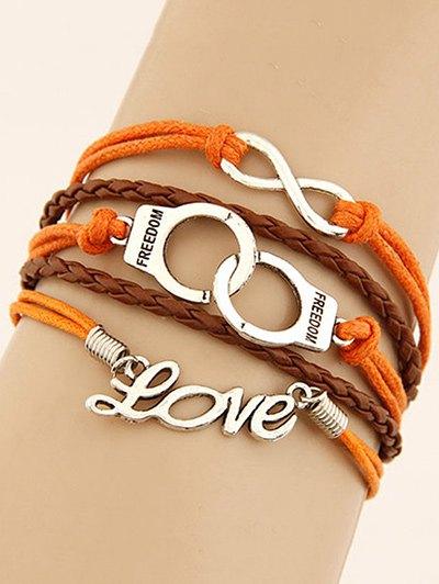 Handcuffs Infinity Braided Bracelet