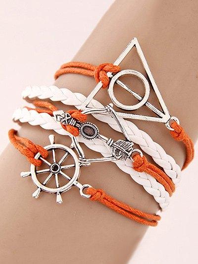 Rudder Triangle Braided Bracelet