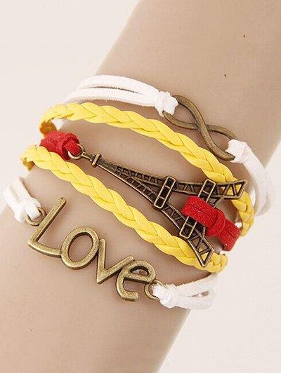 Eiffel Tower Braided Bracelet