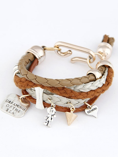 Faux Leather Braided Bracelet