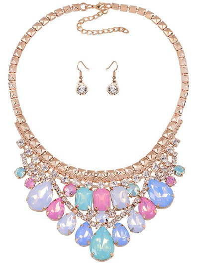 Faux Crystal Wedding Party Jewelry Set