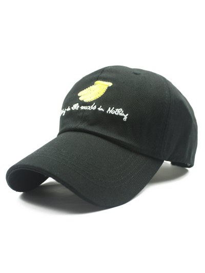 Banana and Letter Embroidery Baseball Hat