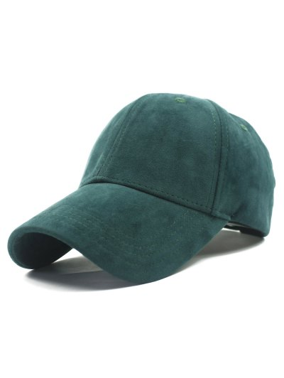 Adjustable Buckle Faux Suede Baseball Hat
