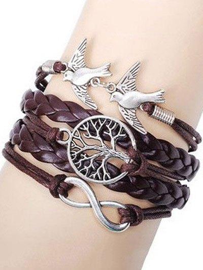 Tree of Life Swallows Braided Bracelet